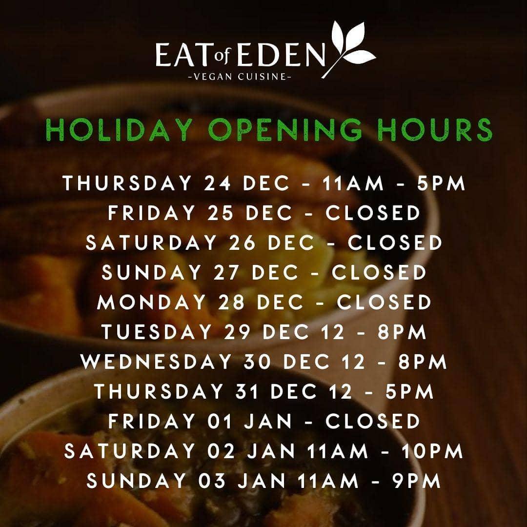🌟Our Christmas Openings hours🎄#eatofeden #edenmoments #southlondonfood #edenvegan #veganfood #healthy #fitness #claphamcommon #eat #food #brixtonfood #claphamfood #healthyfood #brixton #vegan #carribeanveganfood #southlondonvegan #conciouseating #vegancommunity #vegancommunitylondon #platter #lunchgoals #edenplatter #insidebrixton #blackvegans #blackowned #londonvegan #foodporn #veganfoodporn #blackowned #blackbusiness